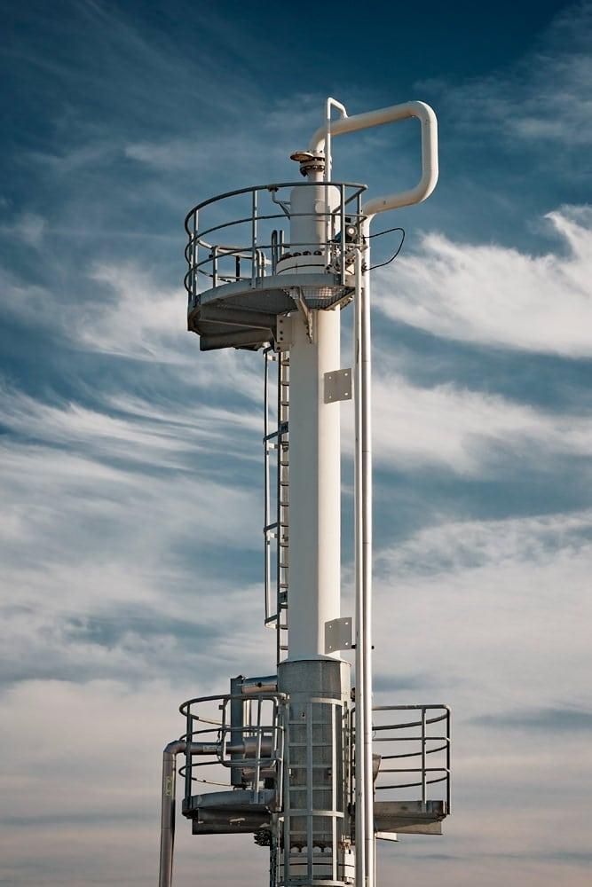 Detaliu statie de uscare gaze naturale Caragele