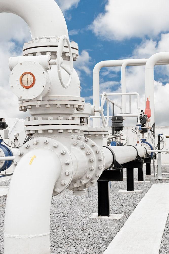 Procesare gaze naturale in statia de uscare Bazna