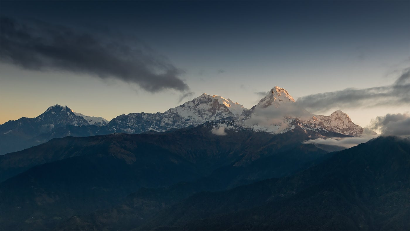 Rasarit Poon Hill, Dhaulagiri si Annapurna I, Nepal