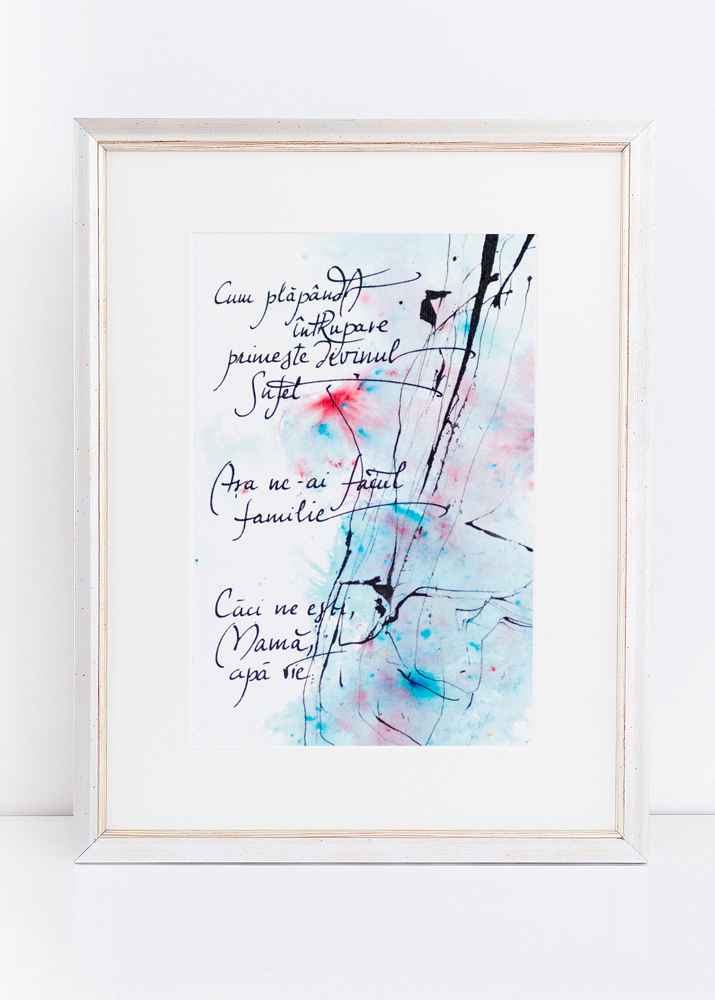 Poezie cadou tablou Madalina Mirastean