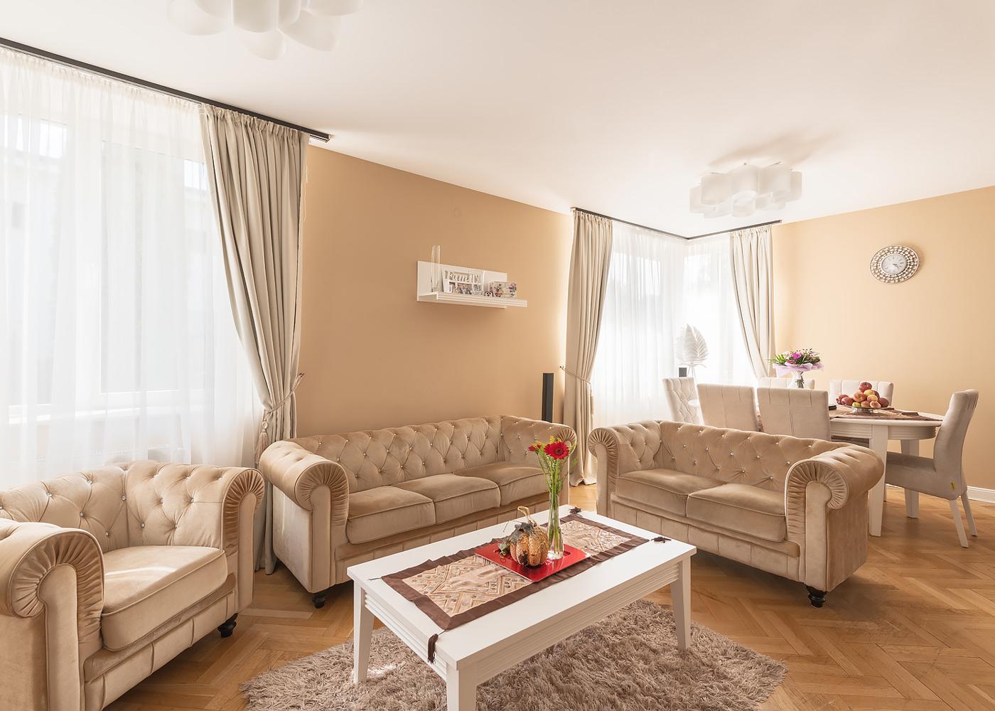 Fotografie imobiliara living Metropolitan Real Estate Cluj-Napoc